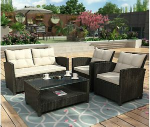 Outdoor Patio Furniture Rattan Outdoor Set w/ Storage Table for Sale in Woodland Hills, CA