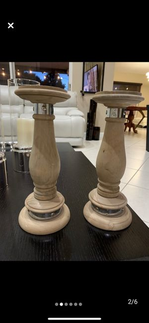 2 Wooden candles holders for Sale in Pembroke Pines, FL