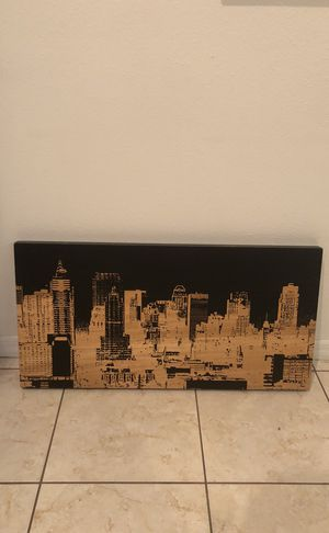 Hand carved New York wall hanging for Sale in Kissimmee, FL