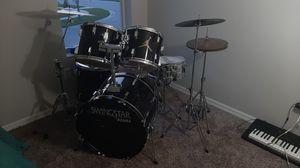 Black Tama Swingstar Drum Set and Rototom for Sale in Lutz, FL