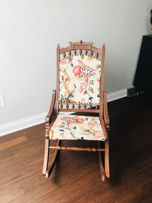 Antique wood rocking chair for Sale in Marengo, OH