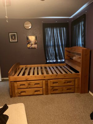 Full size Captain bed & Student desk for Sale in Kyle, TX