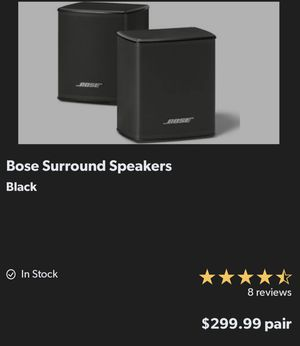 Bose Surround Speakers - used 1 month only for Sale in Richmond, TX