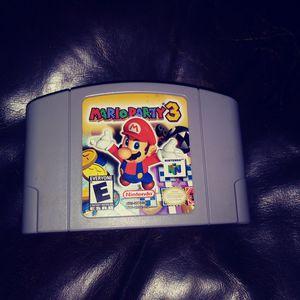 Mario Party 3 N64 for Sale in Renton, WA
