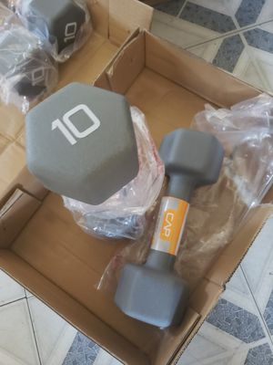 NEW SET 10 LBS DUMBBELL BELL for Sale in Stockton, CA