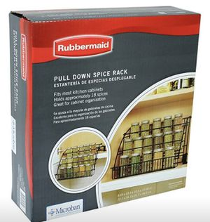 Rubbermaid pull down spice rack for Sale in Cleveland, OH