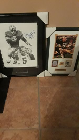Green Bay Packers Legend Ray Nitschke and Paul hornung sports memorabilia for Sale in Homestead, FL