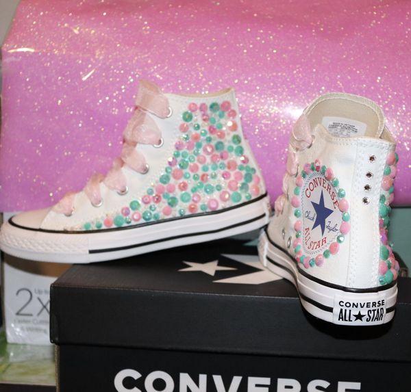 Girls custom converse girls size 1 and 12