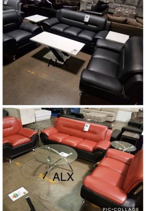 Red black leather Sofa & couch & loveseat & chair & Living Room Set for Sale in Houston, TX