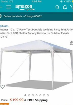 Mytunes 10' x 10' Party Tent,Portable Wedding Party Tent,Patio Parties Tent BBQ Shelter Canopy Gazebo for Outdoor Events (10'x10') for Sale in Chicago, IL