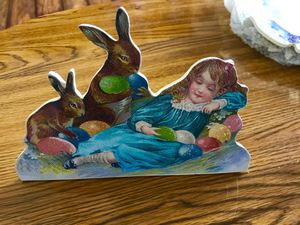 Sleeping Child W Rabbits And Easter Eggs for Sale in Vienna, MO