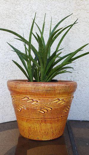 Orange flower pot for Sale in Riverside, CA