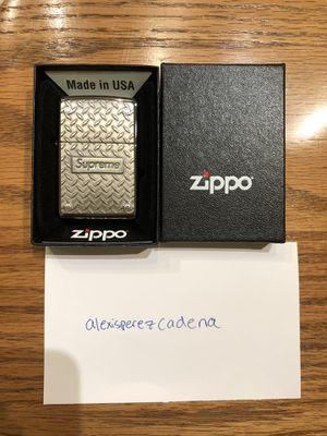 Supreme x Diamond plate Zippo Lighter for Sale in HILLTOP MALL, CA