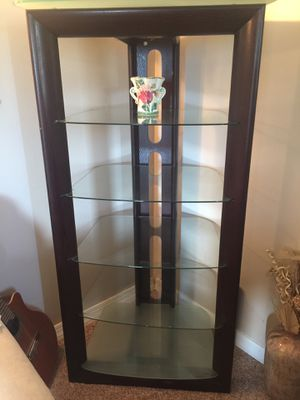 Dark Cherrywood Glass shelf for Sale in Clifton Heights, PA