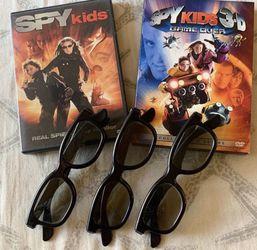 ⚡️SPY KIDS DVD SET & 3D Glasses for Sale in Corona,  CA