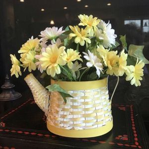 "❤️Faux Yellow Daisies in Yellow Basket Teapot 9""T, 8""W for Sale in Lexington, KY"