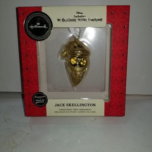 Hallmark Premium Gold Nightmare Before Christmas Jack Skellington Ornament. Collectable for Sale in Hewlett, NY