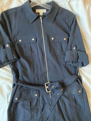 Michael Kors Military Style Dress- Navy- Size Large for Sale in Mountain View, CA