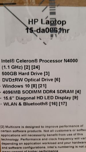 """Hp 15.6"""" laptop (new) for Sale in Austin, TX"""