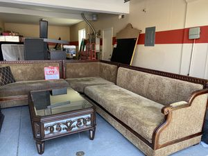 Sofa sectional with coffe table and tv stand for Sale in Ontario, CA