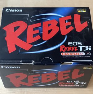 Canon Rebel T3i set (with lens, box, and all other accessories) for Sale in Washington, DC