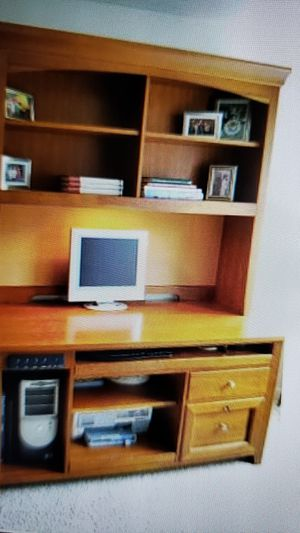 Beautiful solid cherry Desk and Hutch for Sale in Olympia, WA
