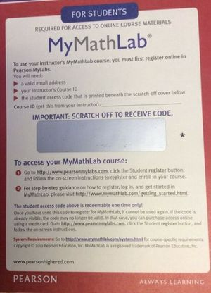 MyMathlab Instant access code My Math Lab ULTRA FAST FREE DELIVERY MyMath Lab Instant access code by Pearson for Sale in Sarasota, FL
