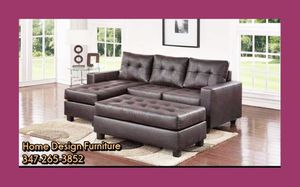 Brand New Leather Sofa Chaise For for Sale in Queens, NY