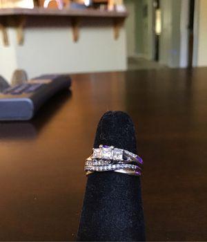 Very beautiful sparkling diamond wedding set 2 diamond rings for Sale in Antioch, CA