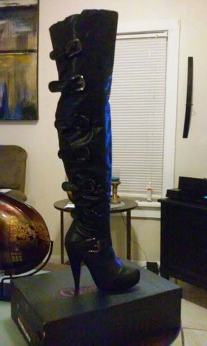 Cleopatra Faux Leather Thigh High Boots . for Sale in Tampa, FL