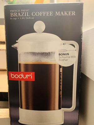 BODUM FRENCH PRESS - 8 CUPS WHITE with MILK FROTHER for Sale in Washington, DC