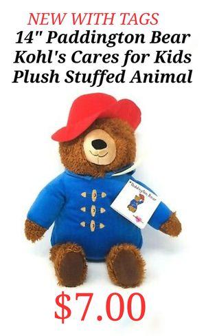 "NWT 14"" Paddington Bear Kohl's Cares for Kids Plush Soft Stuffed Animal for Sale in Buford, GA"