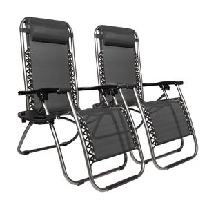 Set of 2 New Black (other colors available) Lounge Chairs Pool Beach Patio Outdoor for Sale in Miami, FL