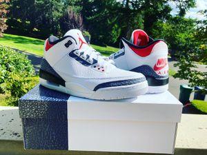 Jordan 3 denim fire red size 10 for Sale in Kirkland, WA