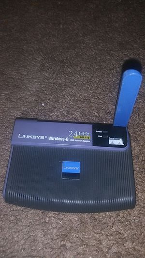 Linksys wirelwss -G usb network adapter for Sale in Portland, OR