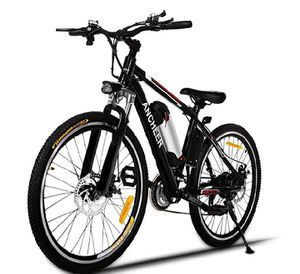 ANCHEER Power Plus Electric Mountain Bike, 26'' Electric Bike with Removable 36V 8Ah Lithium-Ion Battery, Shimano 21 Speed Shifter for Sale in Perth Amboy, NJ