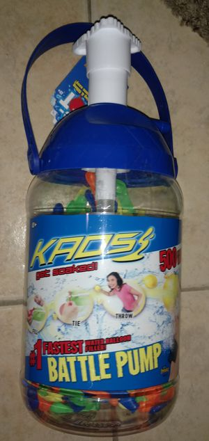 250 water ballons with pump for Sale in Tucson, AZ