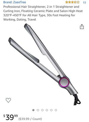 New 2 in 1 hair straightener/curler for Sale in Chandler, AZ