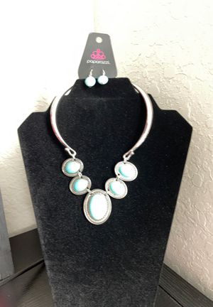 Turquoise necklace with earrings for Sale in San Antonio, TX