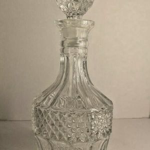crystal glass bottle whisky bottle for Sale in San Mateo, CA