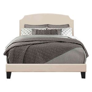 Brand new upholstery Queen Bed Frame Desi In Linen In The Box Seal for Sale in Hayward, CA