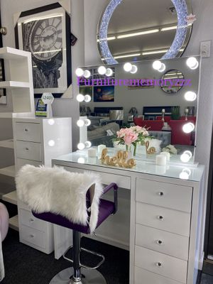 MAKEUP VANITY SETS, STORAGE, SHELVES, CHAIRS, & MORE! $35 weekly! for Sale in Mesa, AZ