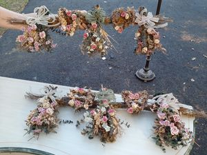 Pair of Victorian Style Eucalyptus & Faux Flower Dec oi r Swag Wreaths for Sale in Pelham, NH