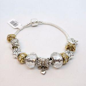 Charm Bracelet - 925 sterling silver + Gold over Silver for Sale in Las Vegas, NV