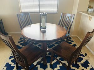 Cherry Table with leaf & 6 chairs total for Sale in Phoenix, AZ