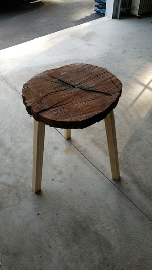 Roughly finished end table for Sale in Philadelphia, PA