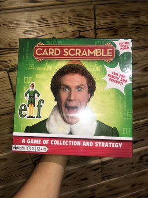Elf Card Scramble Board Game Buddy The Elf Santa! I Know Him! Family Fun! Sealed for Sale in North Miami, FL