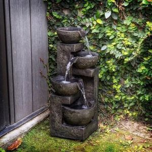 SHIPPING ONLY 24' Three Tier Cascading Fountain Waterfall Garden Patio Decoration Stone Bowl for Sale in Las Vegas, NV