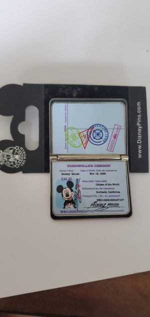 Disney Pin DLR Disneyland Resort Passport for Sale in Auburn, WA