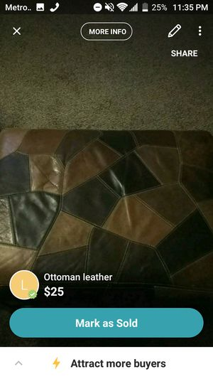 Antique leather ottoman for Sale in Phoenix, AZ